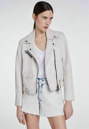 iM KLASSISCHEN FIT - Leather jacket - pristine