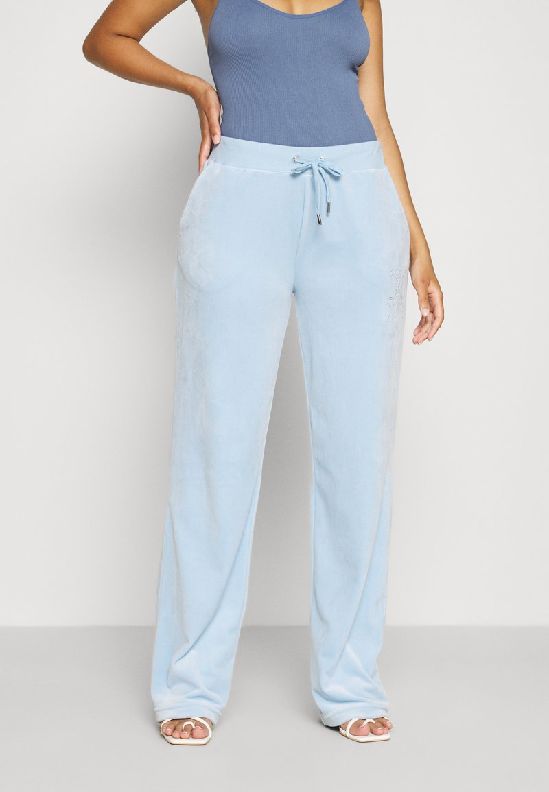 Juicy Couture - NUMERAL TRACK PANTS - Joggebukse - powder blue