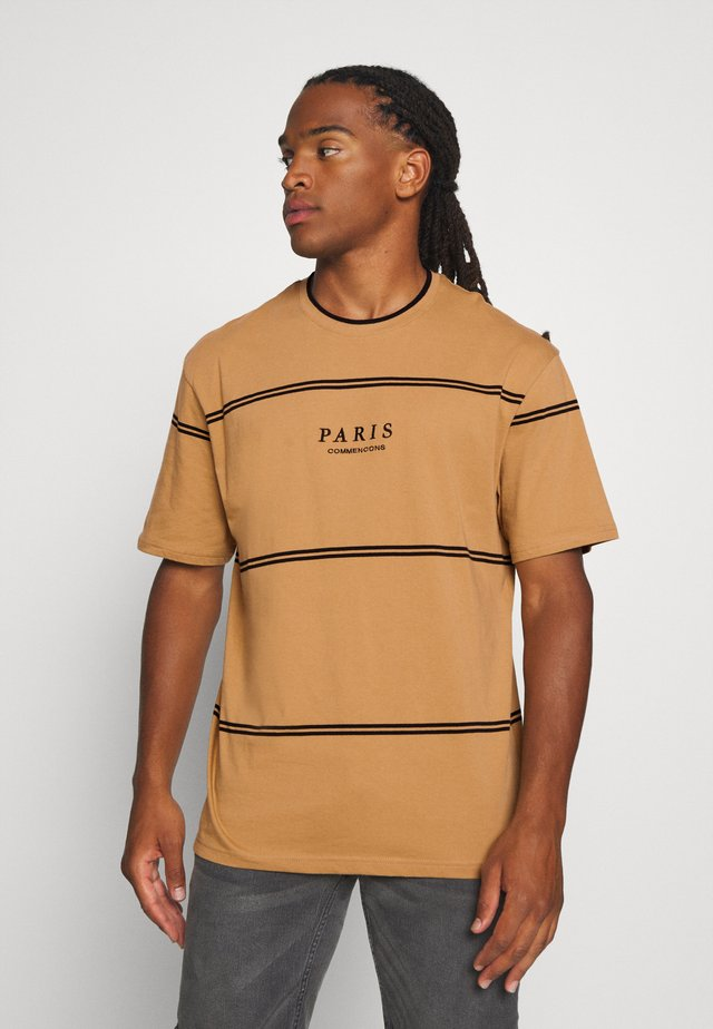 PARIS TIP - T-shirt imprimé - mustard