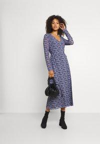 NA-KD - OVERLAP MIDI DRESS - Maxi dress - purple - 1