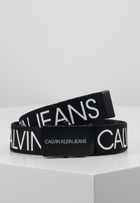 Calvin Klein Jeans - LOGO BELT - Bælter - black - 0