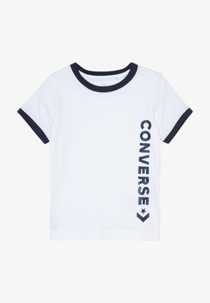 VINTAGE LOGO RINGER TEE - T-shirt z nadrukiem - white/obsidian