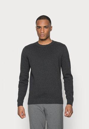 BASIC STRUCTURE - Sweater - black grey melange