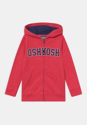 LOGO HOODIE - Sweater met rits - red