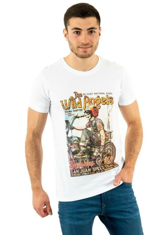 ANGEAS - T-shirt imprimé - blanc