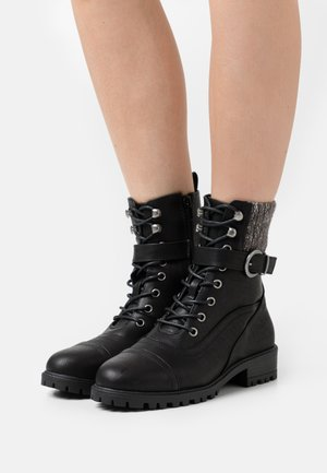 PRENNA - Lace-up ankle boots - black