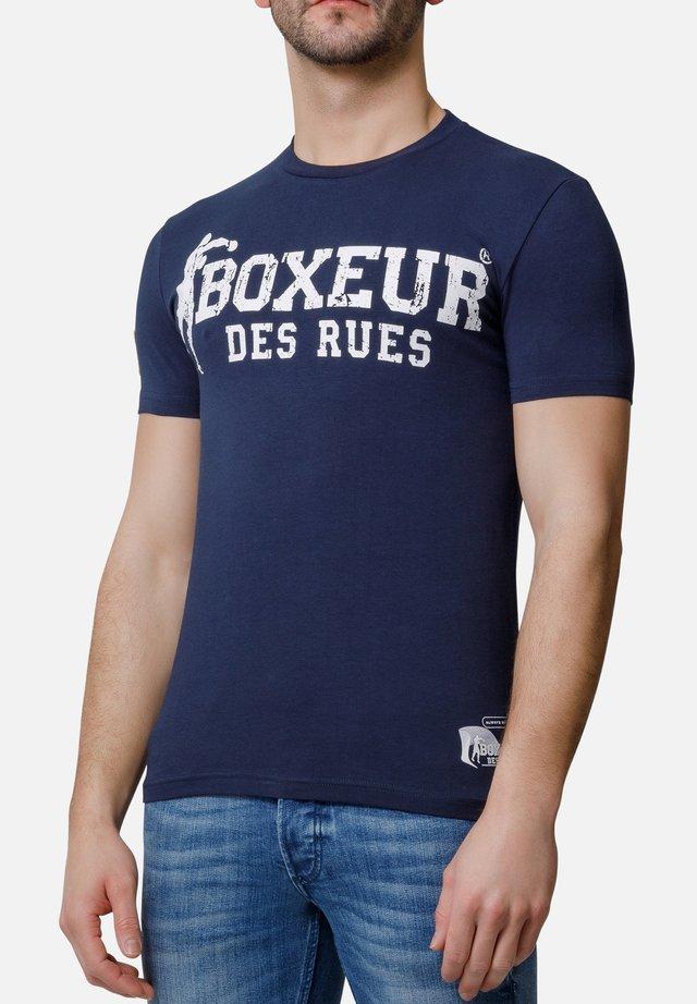 T-shirt con stampa - blu navy