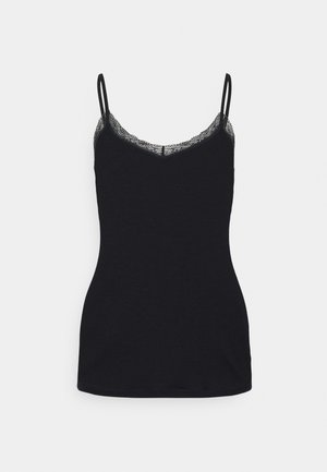 SPAGHETTI TOP - Pyjama top - black
