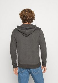 Jack & Jones - JORCLAYTON ZIP HOOD - veste en sweat zippée - dark grey melange - 2