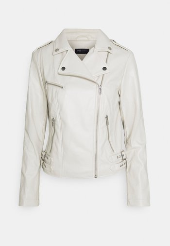 Faux leather jacket - offwhite