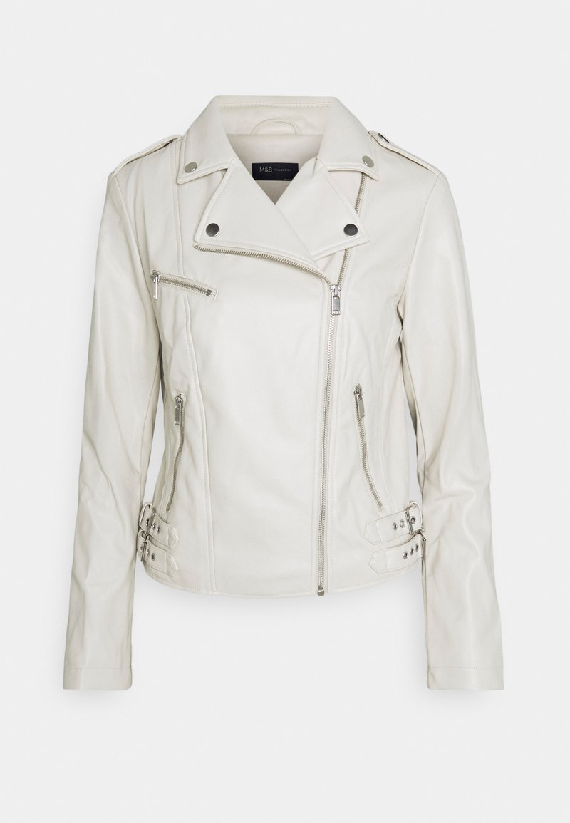 Marks & Spencer London - Faux leather jacket - offwhite