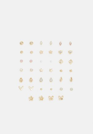 PCDITTE EARSTUDS MEGA 20 PACK - Øredobber - gold-coloured