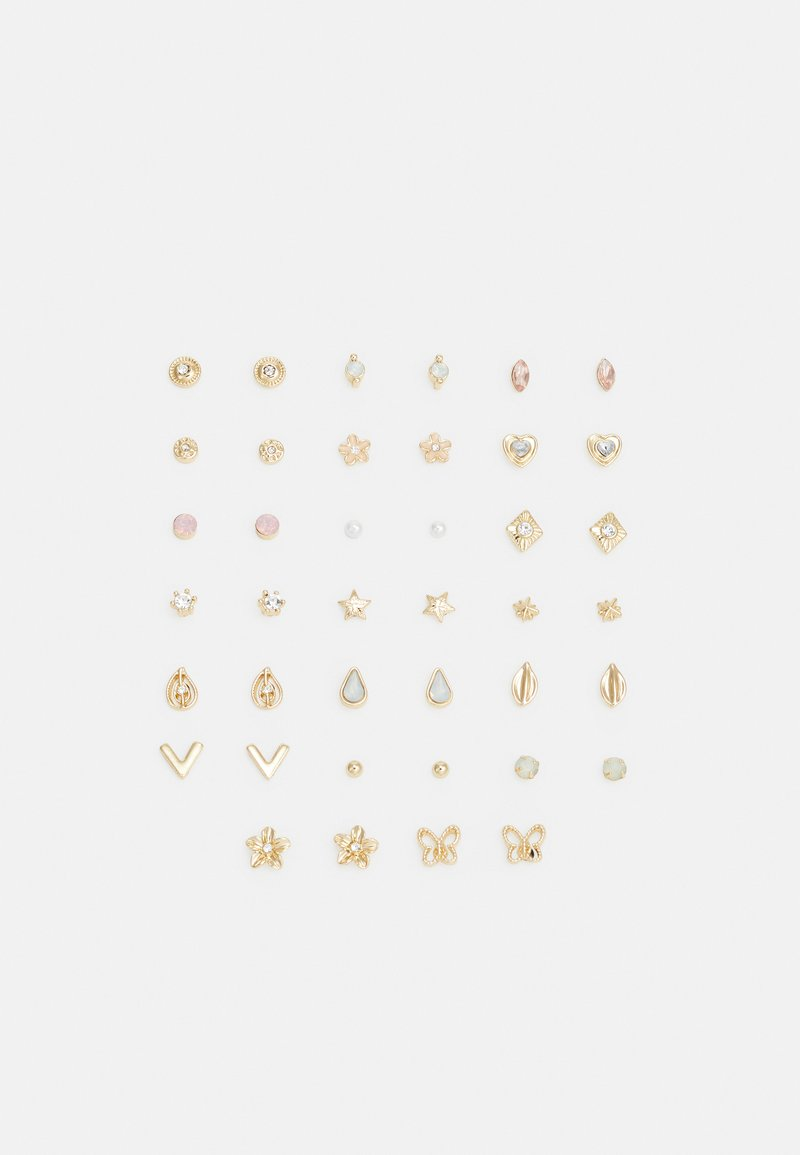 Pieces - PCDITTE EARSTUDS MEGA 20 PACK - Ohrringe - gold-coloured