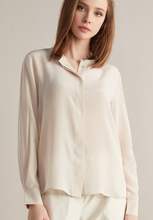 Button-down blouse - madreperla light