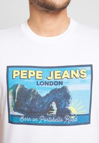 Pepe Jeans - MILES - T-Shirt print - optic white