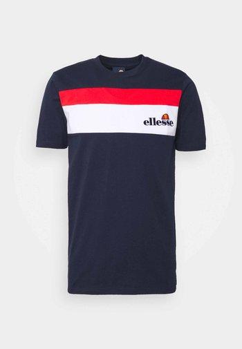 ARAN - T-shirt med print - navy