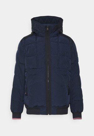 ROPE DYE HOODED BOMBER - Light jacket - blue