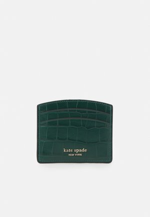 SPENCER CROC EMBOSSED CARD HOLDER - Business card holder - dark deep jasper