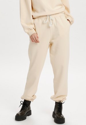 Tracksuit bottoms - creme