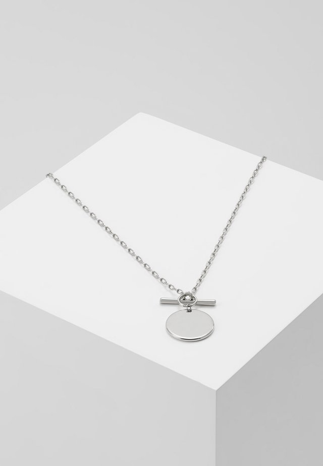 COIN T BAR FASTENING SHORT NECKLACE - Collier - silver-coloured