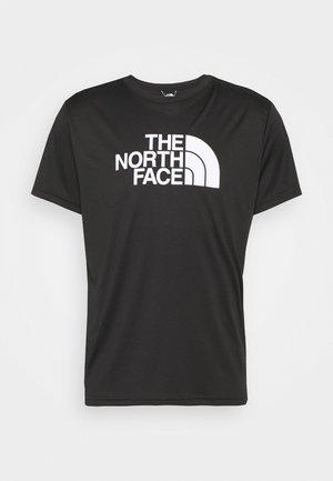 MENS REAXION EASY TEE - Print T-shirt - black