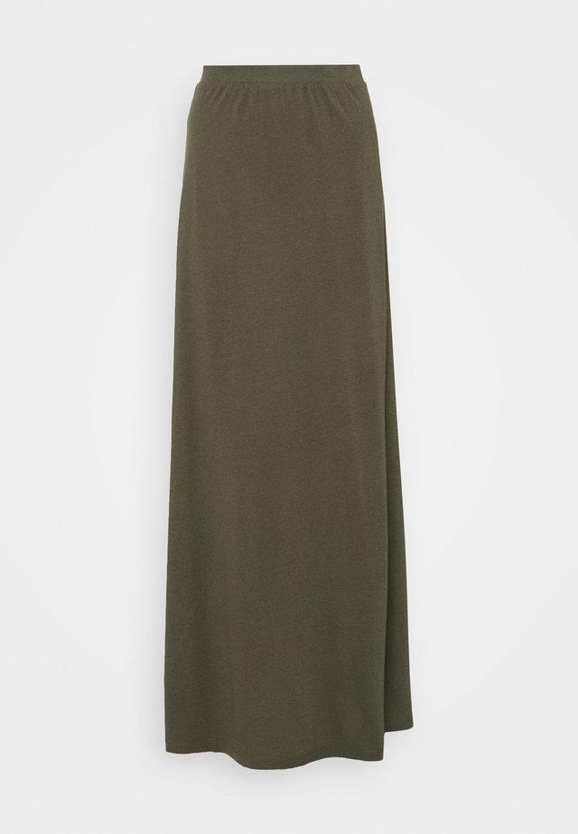 Falda larga - dark green