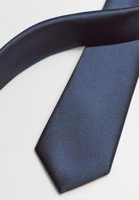 Mango - SATEN - Cravatta - dark navy blue - 3