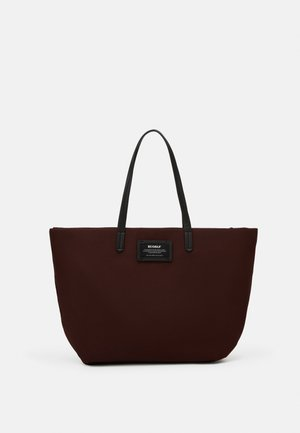 HORIZONTAL SHOPPER SET - Tote bag - dark burgundy