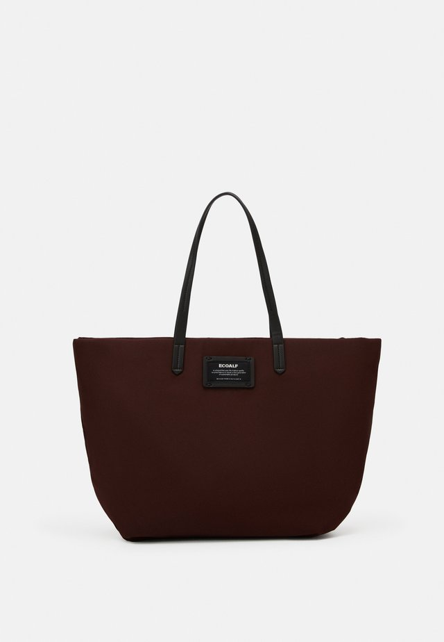 HORIZONTAL SHOPPER SET - Shopping bag - dark burgundy