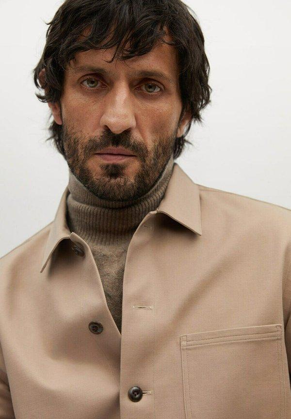Mango Koszula - beige/beżowy Odzież Męska RCKD
