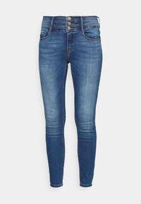 ONLY - ONLPAOLA TRIPLE WAIST LIFE ANK  - Jeans Skinny Fit - medium blue denim - 3