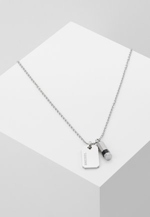 DOUBLE PENDANT - Necklace - silver-coloured