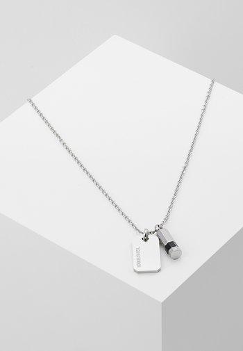 DOUBLE PENDANT - Necklace - silver-coloured