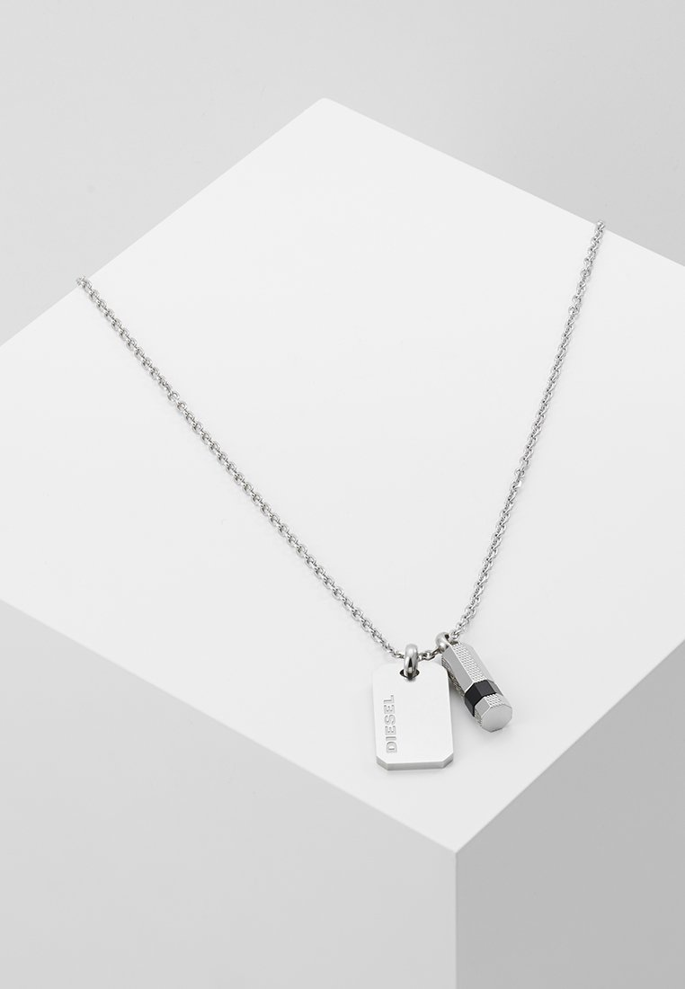 Diesel - DOUBLE PENDANT - Necklace - silver-coloured