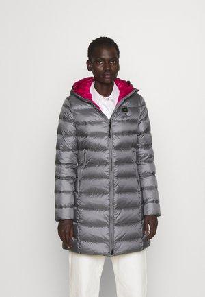 BASIC HOODED LIGHT JACKET LONG  - Kabát zprachového peří - grey