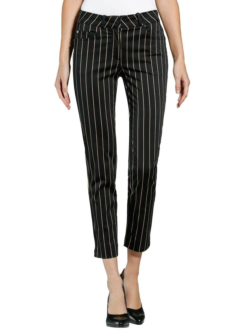 Alba Moda - Trousers - schwarz,taupe