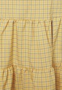 Fashion Union - PARADISO SKIRT - A-line skirt - yellow check - 2