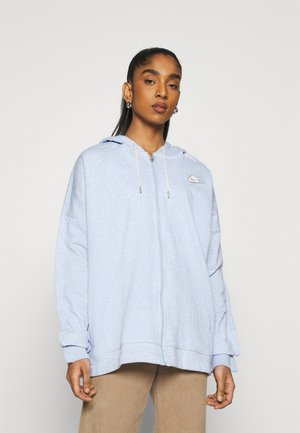 HOODIE EARTH DAY - Zip-up hoodie - light armory blue/heater/white