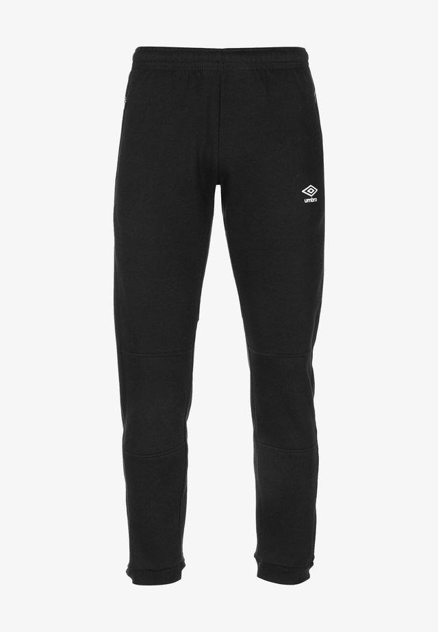 Tracksuit bottoms - black / white