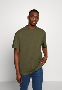 Weekday - UNISEX GREAT - T-shirt - bas - khaki green - 0