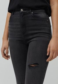PULL&BEAR - SKINNY HIGH WAIST - Jeans Skinny Fit - dark grey - 3