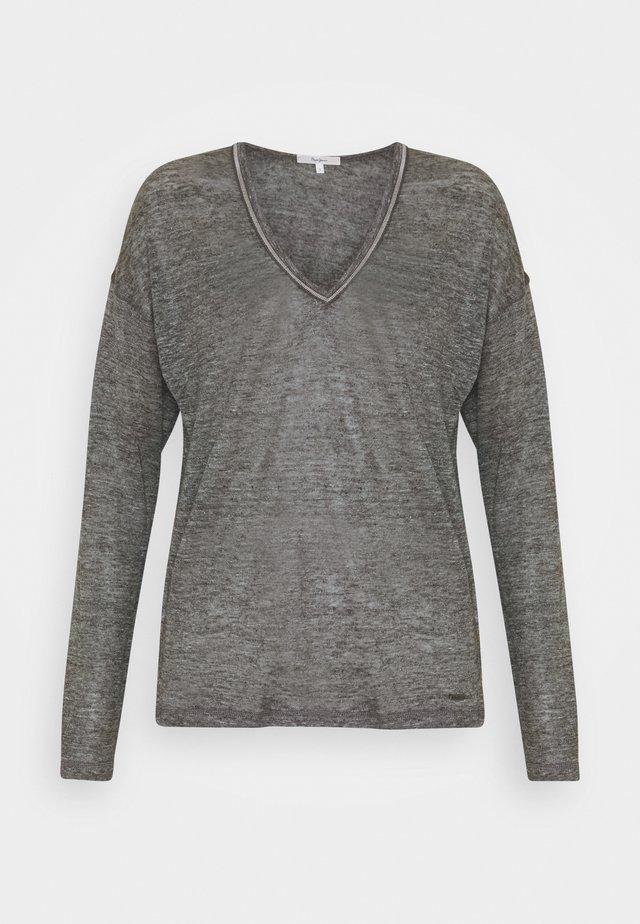 LUCY - Bluzka z długim rękawem - grey marl