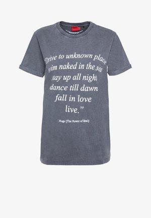 DIBIUSA - Print T-shirt - mottled grey