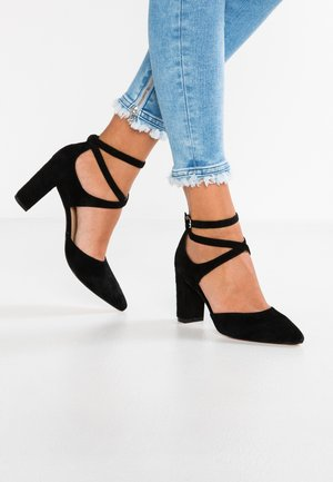 LEATHER CLASSIC HEELS - Korolliset avokkaat - black
