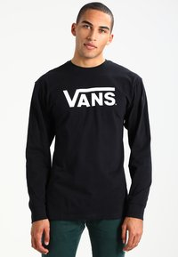 Vans - CLASSIC FIT - Long sleeved top - black/white - 0