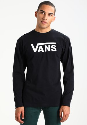 CLASSIC FIT - Long sleeved top - black/white