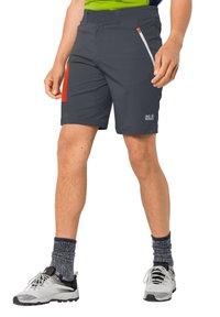 Jack Wolfskin - OVERLAND  - Outdoor shorts - ebony - 0