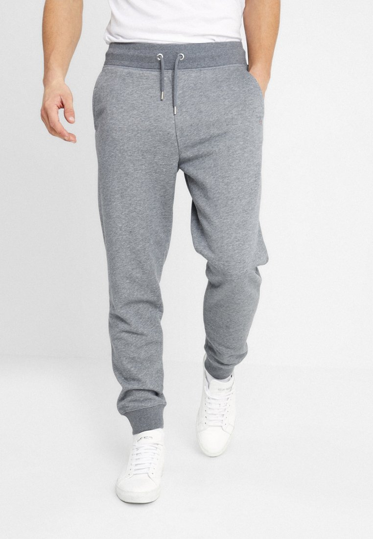 GANT - THE ORIGINAL PANT - Tracksuit bottoms - dark grey melange