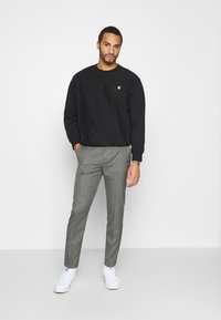 Calvin Klein Tailored - MOULINE GRID TAPERED PANTS - Trousers - khaki - 1