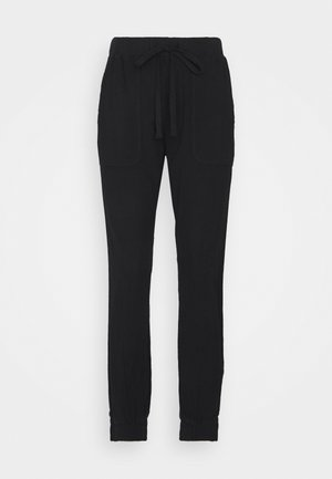 NAYA PANTS - Trousers - black deep